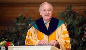Senator Tom Harkin speaks at the 2013 MUM commencement ceremony