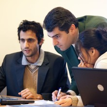Students in the computer science program