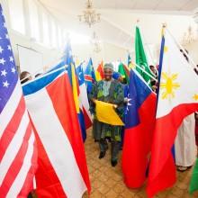 Cultural flag parade