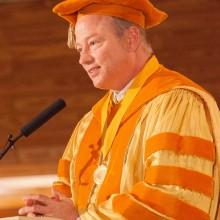 Dr. John Hagelin at graduation