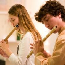 Gandharvaveda flute in class