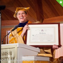 One of Jim's favorite photos from MUM graduation, receiving honorary doctorate
