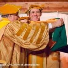 Jim Carrey receives his honorary doctorate