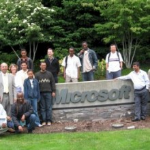 Students on trip to Microsoft campus