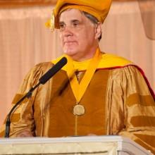 Dr. Bevan Morris, MUM President at graduation