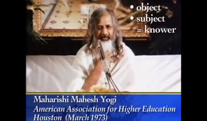 Maharishi knower knowledge video