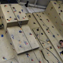 Rock wall in Rec Center