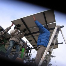 students-solar-panels
