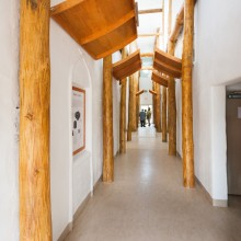 Hallway in the new Sustainable Living Center