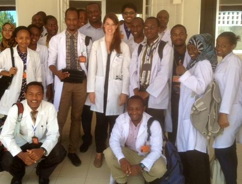 Emily Marcus at a Clinic in Tanzania
