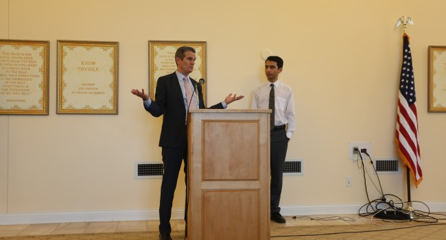 Chris Whatley (left) and Morad Malekghassemi at Career Workshop