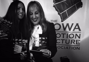 Monica Demes and Joanna Plafsky (respectively) at The Iowa Motion Picture Association Awards