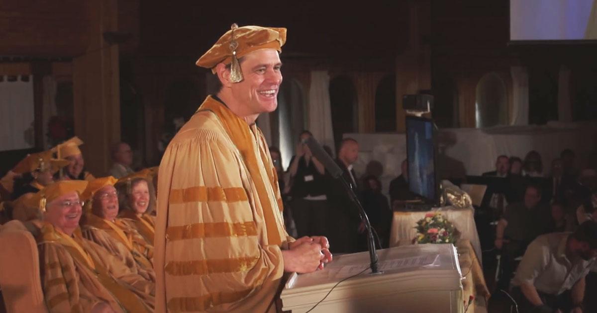 Watch Jim Carrey's Inspirational Commencement Speech at Maharishi University of Management
