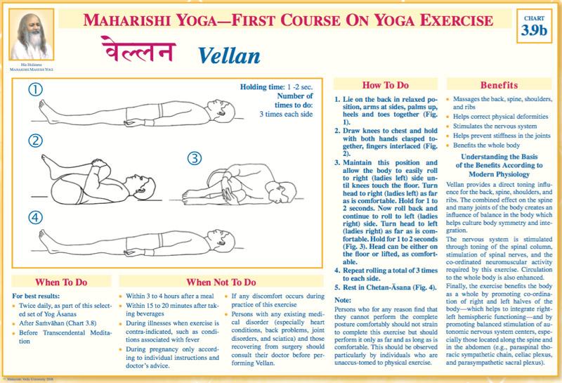 Maharishi Yoga - First Course on Yoga Exercise * Vellan asana