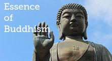 Essence of Buddhism * image of a statue of Buddha