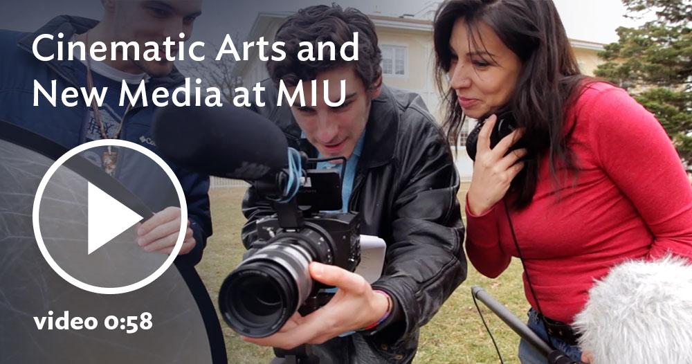 video on Cinematic Arts & New Media program