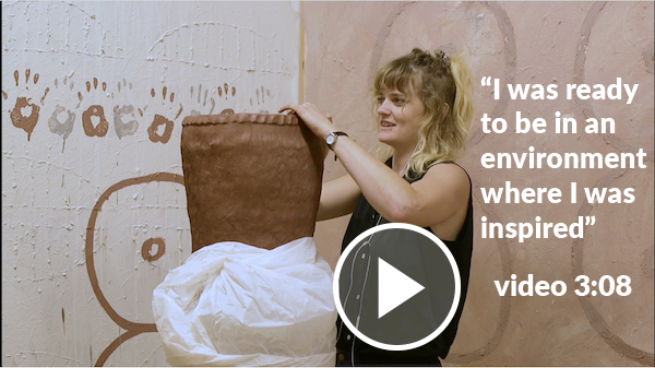 Watch video interviews with MA in Studio Art students. 3 minutes.